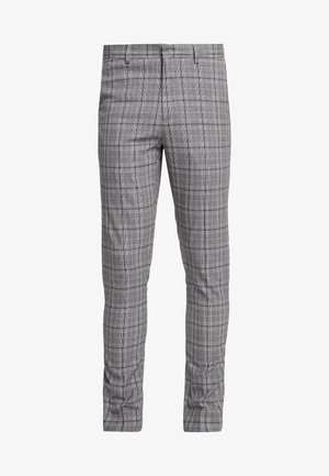 CHECK TROUSER  - Suit trousers - grey