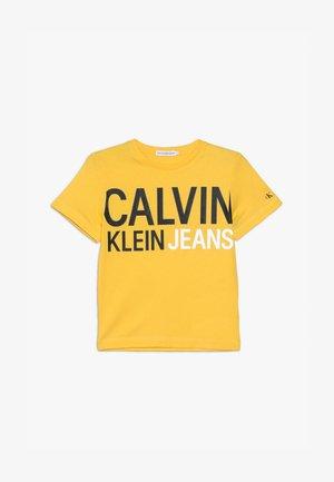 STAMP LOGO - T-shirt print - yellow