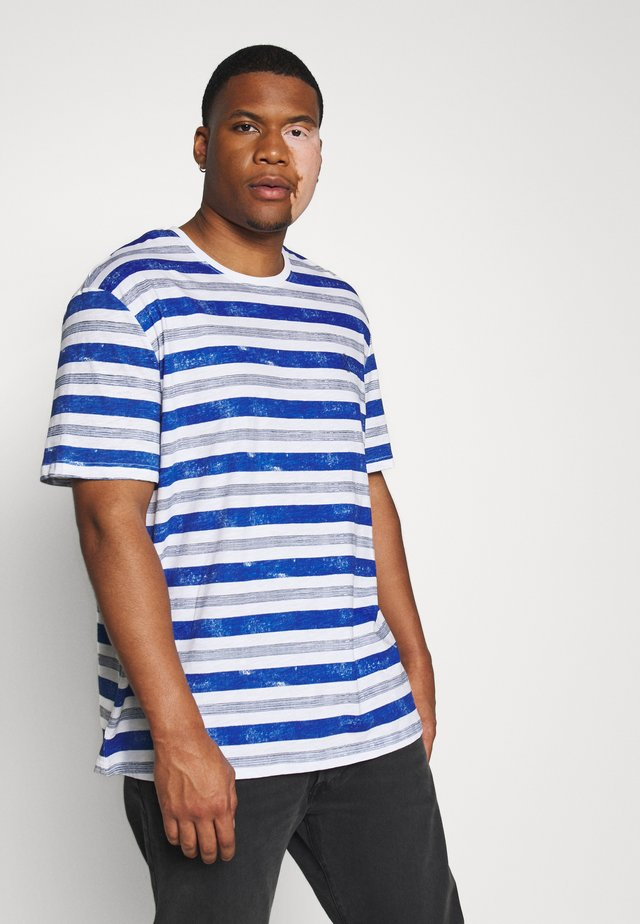 PRINTED STRIPES T-SHIRT - T-shirts med print - white bold watery