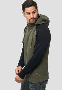 INDICODE JEANS - ARBUTUS - Zip-up hoodie - army - 3