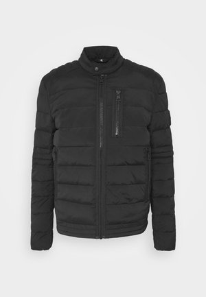 QUILTED PADDED MOTO JACKET - Giacca da mezza stagione - black