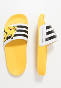 adidas Performance - ADILETTE SHOWER - Sandały kąpielowe - equipment yellow/core black/footwear white - 0