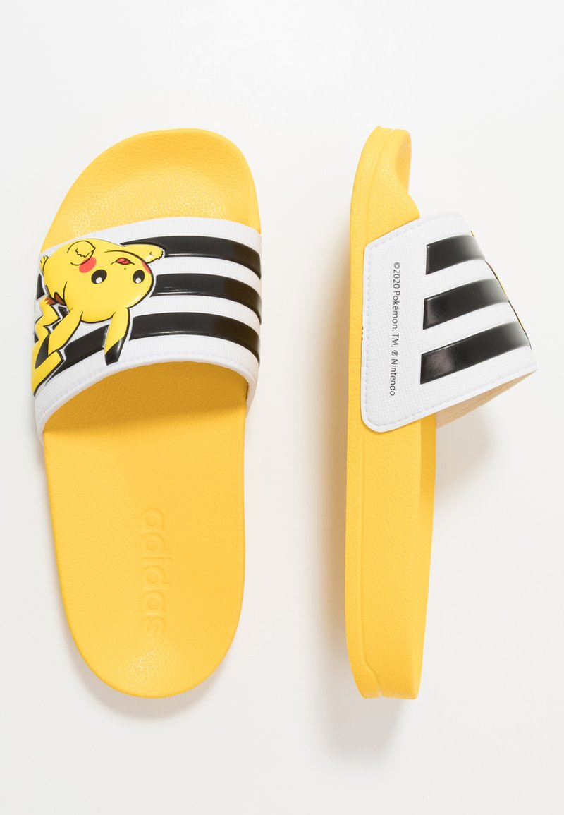 adidas Performance - ADILETTE SHOWER - Sandały kąpielowe - equipment yellow/core black/footwear white