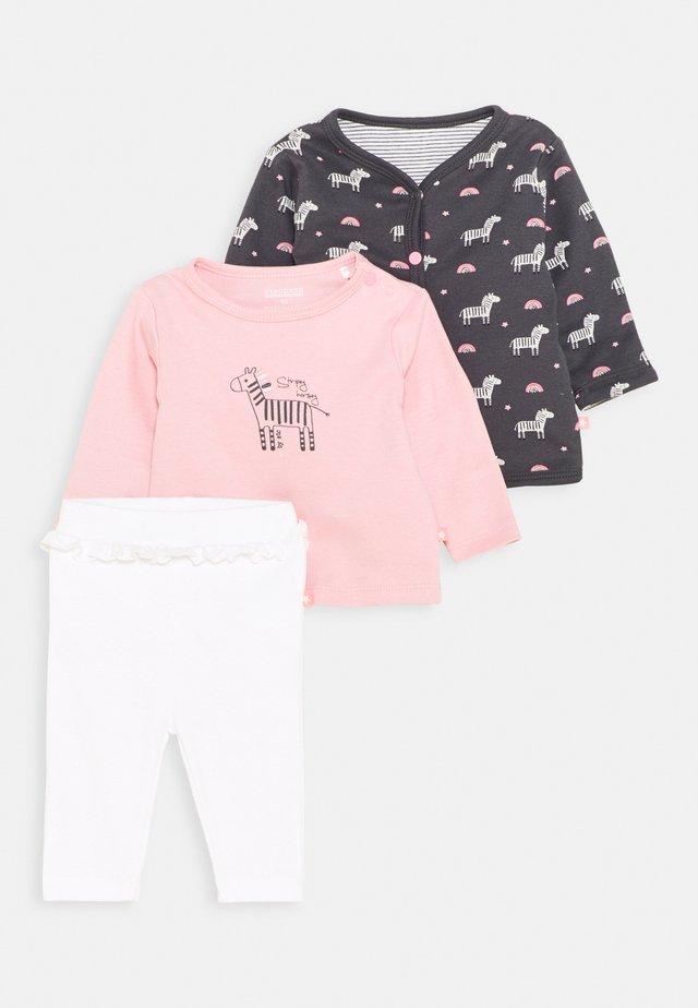 SET - Lehká bunda - light pink/dark grey
