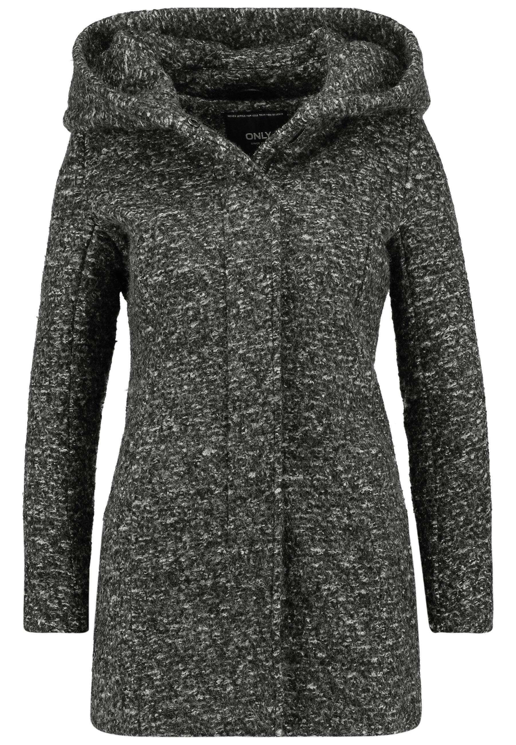ONLSEDONA COAT Halflange jas dark grey melange
