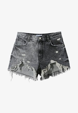 MIT RISSEN - Denim shorts - grey
