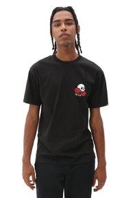 Vans - MN ROSE BED SS - Print T-shirt - black - 0