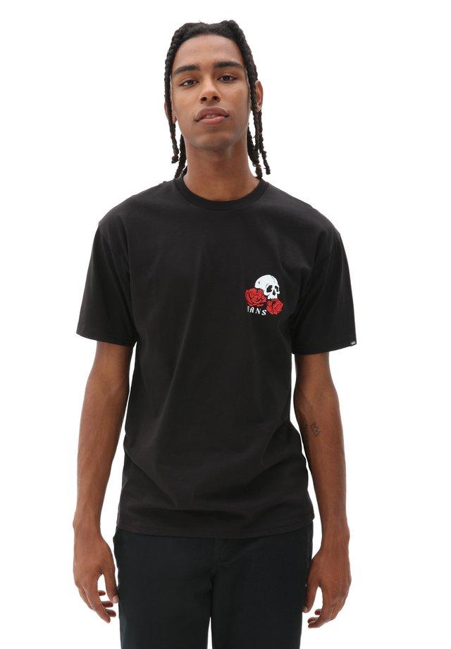 MN ROSE BED SS - T-shirt print - black