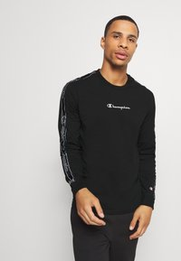 Champion - LEGACY TAPE LONG SLEEVE - Long sleeved top - black - 0