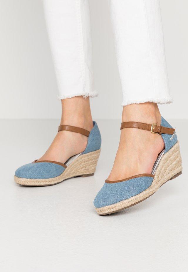Escarpins compensés - light blue