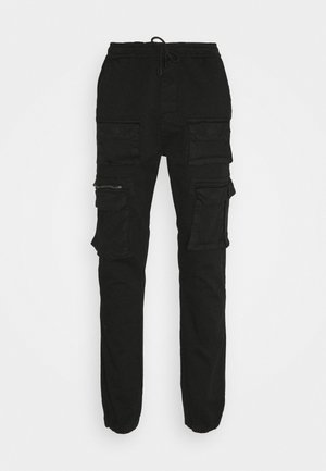 MULTI POCKET - Cargo trousers - black