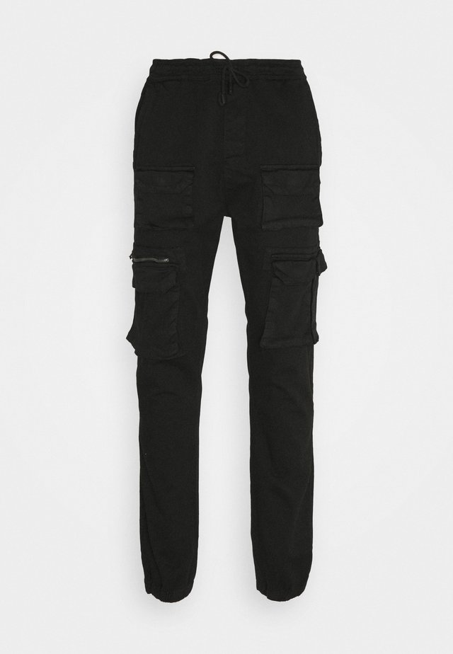 MULTI POCKET - Pantalon cargo - black