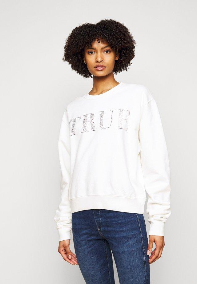 BOXY CREW NECK - Sweatshirt - blanc de blanc