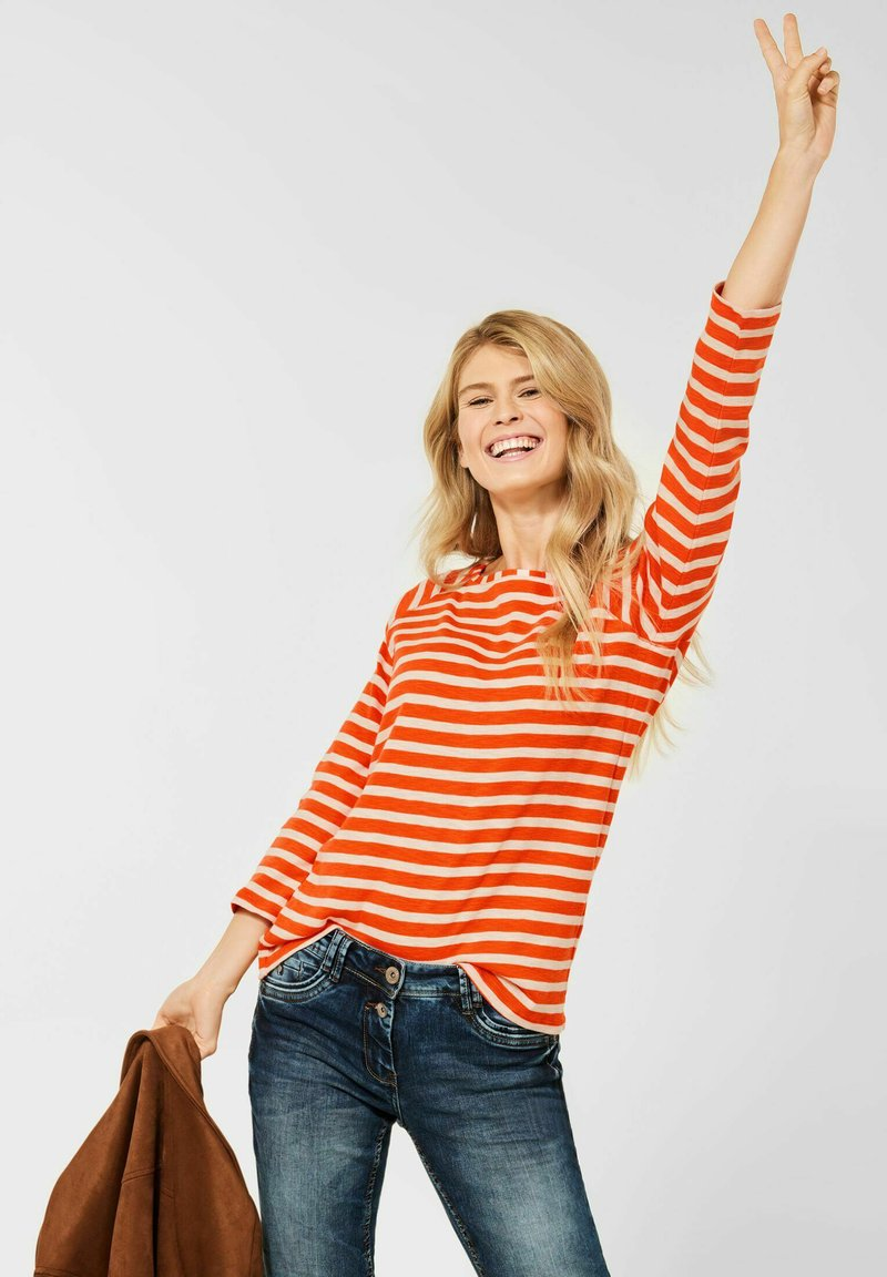 Cecil - MUSTER - Long sleeved top - orange