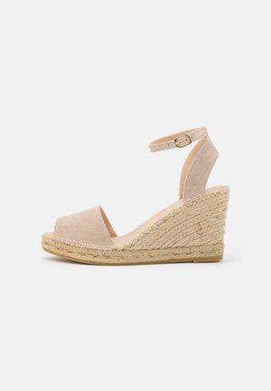 CARLA - Platform sandals - beige