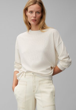 Long sleeved top - chalk white