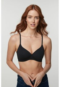 Next - DAISY LIGHT PAD NON WIRE COTTON BLEND BRAS 3 PACK - Underwired bra - black - 1