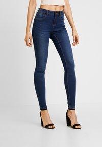 Noisy May - NMJEN SHAPER - Jeans Skinny Fit - dark blue denim - 0