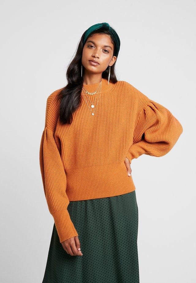 SOPHIE HIGH NECK - Pullover - pumpkin spice