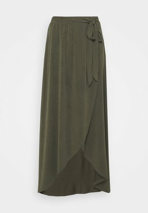 OBJANNIE NOOS - Wrap skirt - forest night