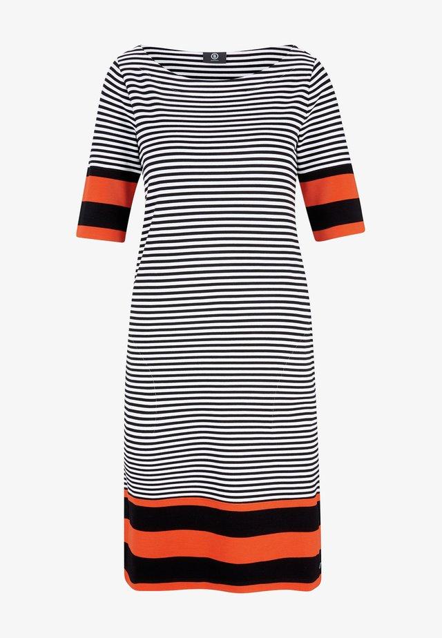 JOSEFINA - Jersey dress - schwarz/weiß