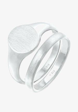 2 PACK BASIC - Ring - silber