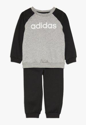 ESSENTIALS LINEAR TRACKSUIT BABY SET - Survêtement - medium grey heather/black/white