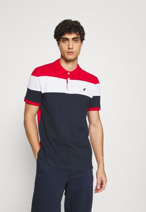 Polo - red/white/dark blue