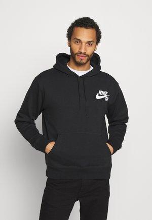 ICON HOODIE UNISEX - Jersey con capucha - black/white