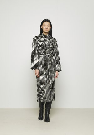 ZIG ZAG DRESS - Maxi-jurk - brown