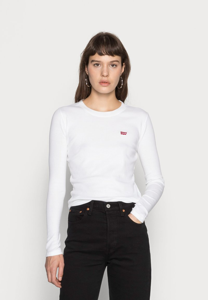 Levi's® - LS BABY TEE - T-shirt à manches longues - white