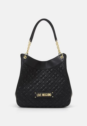 QUILTED CHAIN HOBO - Håndtasker - nero