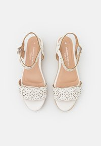 Dorothy Perkins Wide Fit - WIDE FIT REBECCA WEDGE - Espadrillos - white - 5