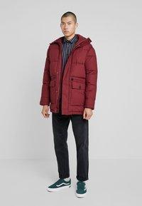 Edwin - Winter coat - ruby wine - 1