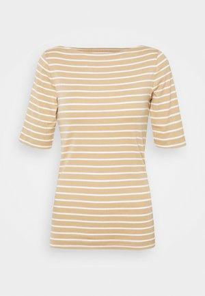 BOATNECK - Print T-shirt - khaki