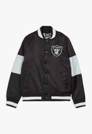 NFL OAKLAND RAIDERS VARSITY - Bomber Jacket - black/field silver