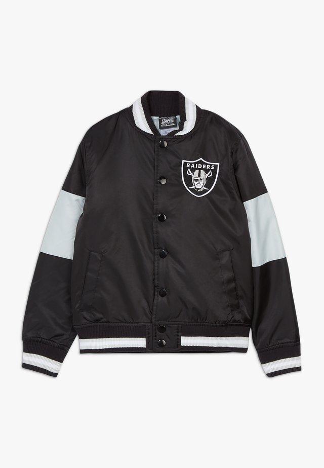 NFL OAKLAND RAIDERS VARSITY - Bomberjacka - black/field silver