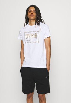 Print T-shirt - bianco/gold