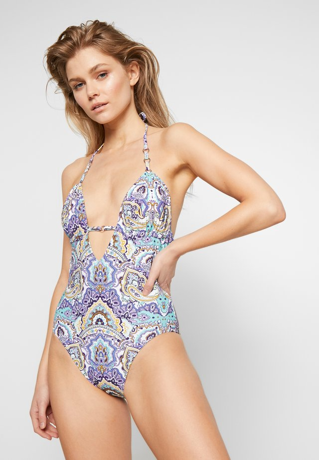 SUMMER CHINTZ RING MAILLOT - Costume da bagno - antigua blue