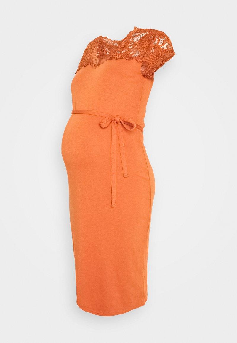 MAMALICIOUS - MLBLACKIE MIVANA CAP DRESS - Day dress - auburn