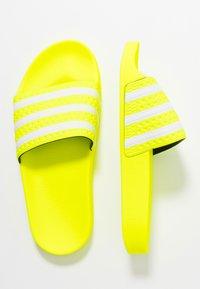 adidas Originals - ADILETTE - Mules - solar yellow/footwear white - 1