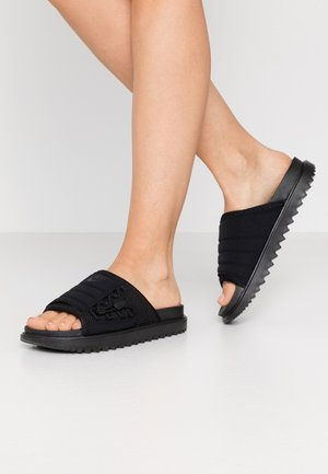 CITY SLIDE - Sandalias planas - black