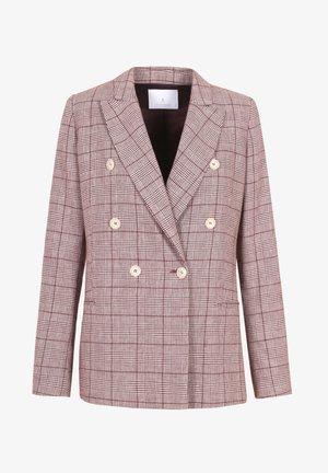 WALES  - Blazer - burgundy check