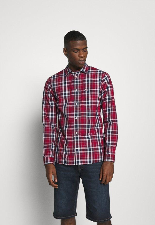 FADED CHECKS  - Shirt - wine red