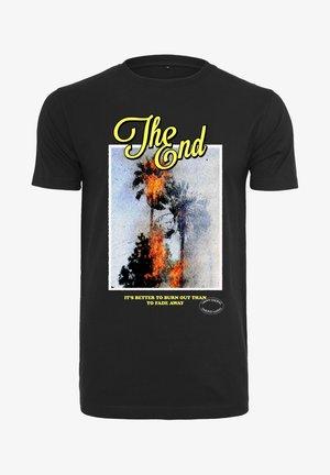 THE END  - T-shirt print - black