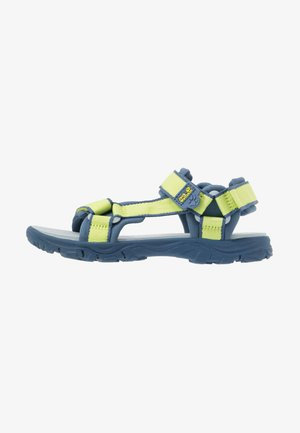 SEVEN SEAS 3 UNISEX - Walking sandals - lime/blue