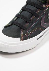 Converse - PRO BLAZE STRAP RAINBOW STITCH - High-top trainers - black/enamel red/rainbow - 2
