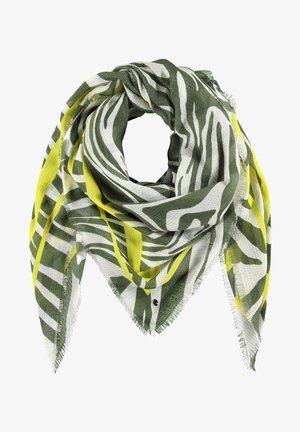 MIT ZEBRA-PRINT - Foulard - botanical green gemustert