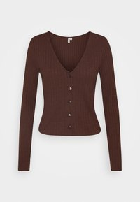 Nly by Nelly - BUTTON UP - Gilet - brown - 4