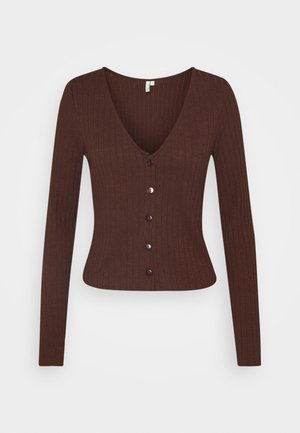 BUTTON UP - Strikjakke /Cardigans - brown